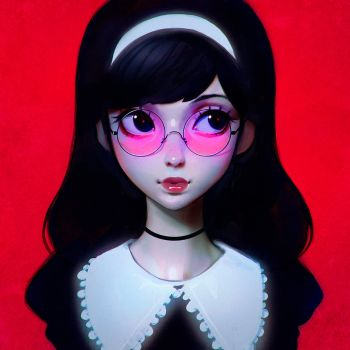 Pink Glasses by Kuvshinov-Ilya