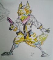 Colored  Fox by GIRLYGAMER1998