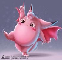 Kanto - Clefable by ArtKitt-Creations