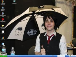 My MCR desktop Dec '08 by XXXAcidMoonXXX