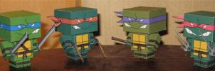 TMNT cubees by paperart