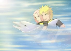 Narusaku: Vacation Dolphin by Celious
