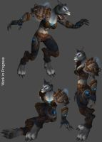 Worgen Female-mail armor by SomethingIdontknow