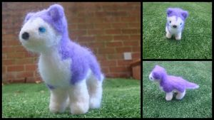 Needle Felted Purple Husky by LittleCraftyFriends