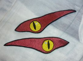 Embroidered snake eyes by goiku