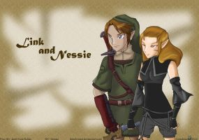 Request - Zelda - Link and Nessie by himehisagi