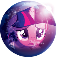 Twilight Sparkle Aurora web browser icon by TickleBerryDude