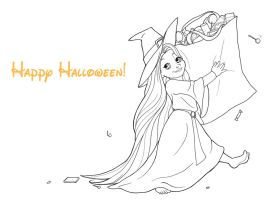 Little Rapunzel Goes Trick-Or-Treating by RiverCreek