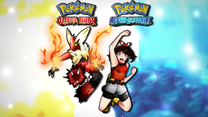 Pokemon ORAS Wallpaper ft. Mega Blaziken+May by ShadowVenom718