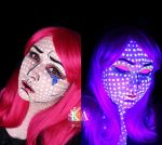Pop Art Black Light Halloween Makeup w/ Tutorial by KatieAlves