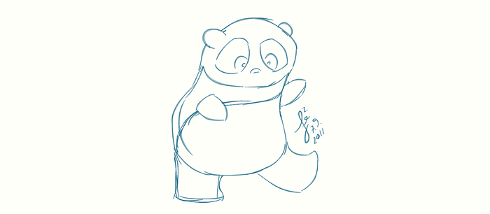 Quick sketch of the panda by mystikalyx