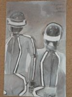 Charcoal Daft Punk by RealityMisfit