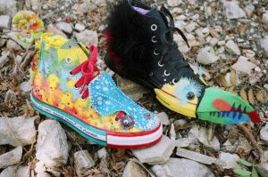 Chameleon and Toucan Converses by DreamsCatchMe