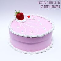 Large Pink Strawberry Cake Box by FrostedFleurdeLis