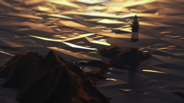 low poly lighthouse by FearTheEC