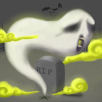Graveyard Ghost by BLUE-F0X