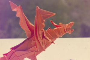 Origami Fiery Dragon by kiddophoto