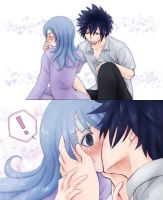 Gruvia Kiss - 3 by Namida-no-Shinju