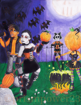 Halloween Loverz: Moonlit Magic (2016) by prismpower23