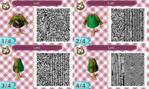 Loki Shirt QR Code for Animal Crossing New Leaf by Stevolteon
