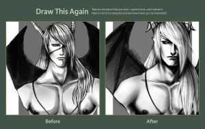 Draw this again: Demon Noir bust by Dark-SpectrumDS