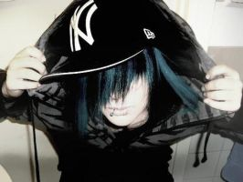 emo blue hair by emopunkmcr