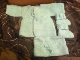 Hat, Booties, and Jacket-for baby by Ryuus-Wardrobe