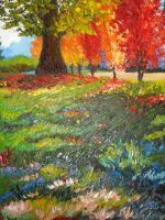 trees colorful by yierkas
