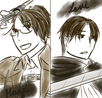 SnK: Levi and Hanji (REQUEST) by Kazuu-kun