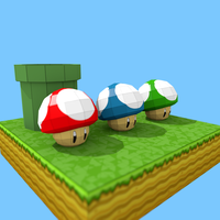 Mario Mushrooms by RedBull15