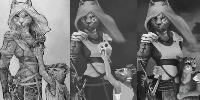From sketch to digital drawing by Antilef