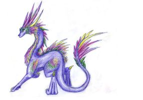 Colorful Feathered Dragon by Dragongirl9888