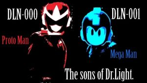 The Sons of Dr.Thomas Light Proto Man and Mega Man by TheGreatDevin