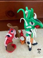 Two monsters with plasticine by TheFenice