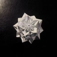 white kusudama by DevourerOfSugar