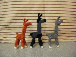 Amigurumi Llamas (Made to Order) by CrochetHyperbole