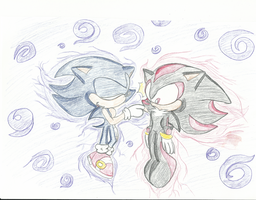 (OLD) Dark Sonic X Shadow by BlueChaosRing