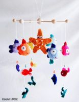 Fish Baby Mobile by Cinciut