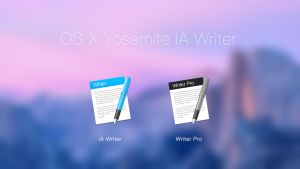 OS X Yosemite iA Writer Icons by rkRusty
