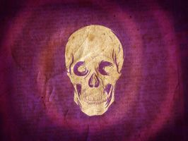 Skull with purple background by Neempop
