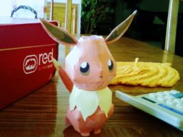 Paper Eevee. by Ashesthedeathdealer