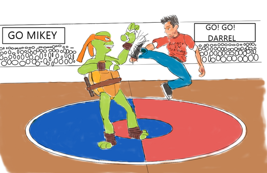 Darrel vs Mikey sparring by AVasquezArt