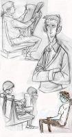 Cafe Drawings 010 by bmaras