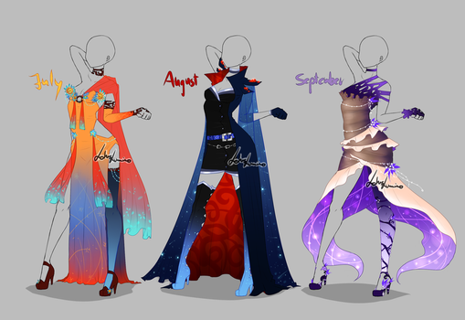 Outfit design - Months - 3 - closed by LotusLumino