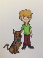 Lil Shaggy and Scooby Doo by DaJam22