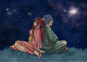Erza and Jellal by Quantia13