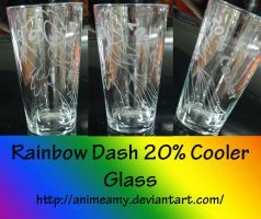 Rainbow Dash Pint Glass by AnimeAmy