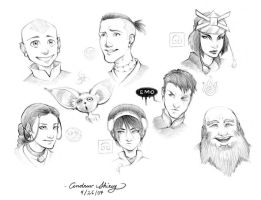 Avatar characters by silentsketcher