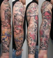 hannya daikijin and koi sleeve by graynd