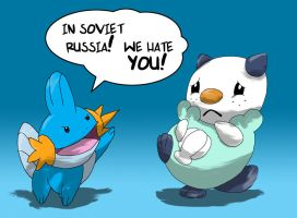 In Soviet Russia Mudkip by ISHOULDBEWORKING